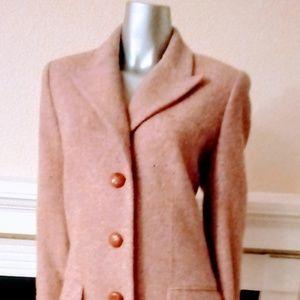 Ellen Tracy Spring Coat Tweed Pink Lavender